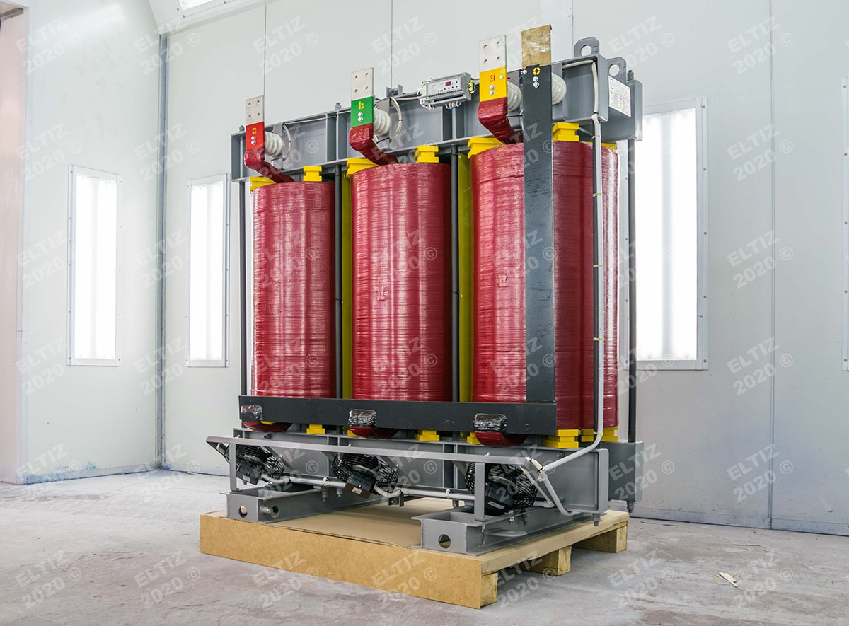 Сухой трансформатор с системой охлаждения
